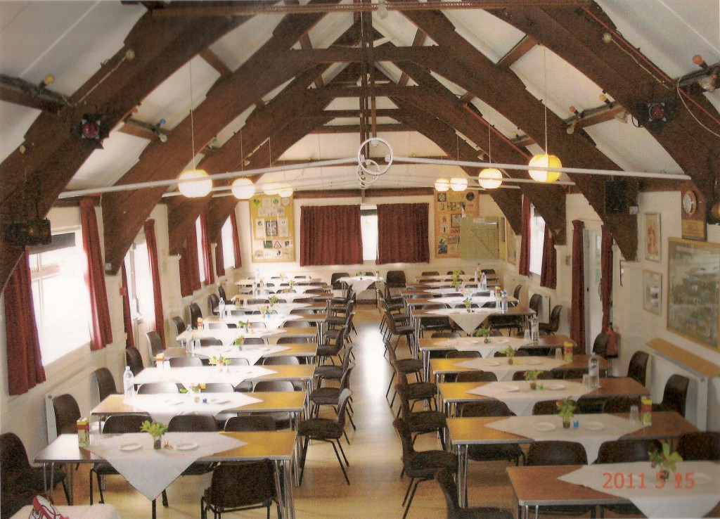 Main hall table layouts ferring village hall