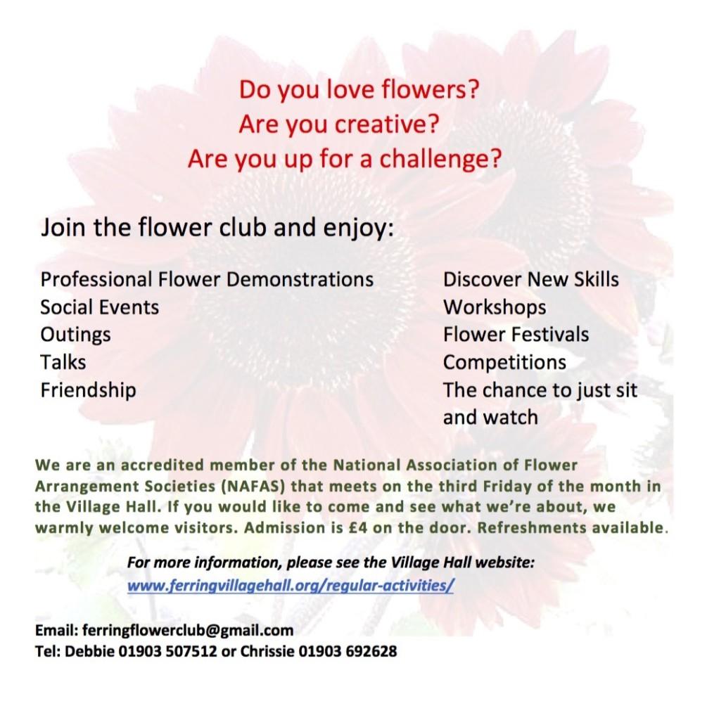 Ferring Flower Club Poster