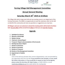 Ferring Village Hall Annual General Meeting